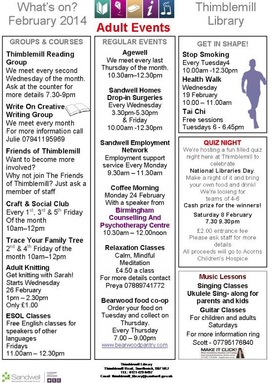 What's on in Bearwood (1/2)