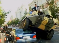 The Mayor of Vilnius in Lithuania takes drastic steps to deal with inconsiderate parking