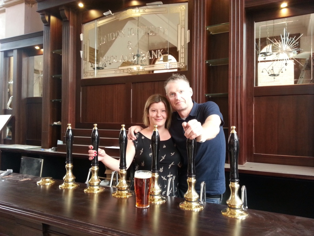 A warm welcome Richard and Morwenna - Bearwood's new golden couple